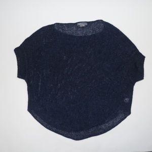 Vince Navy Blue Short Sleeve Sweater